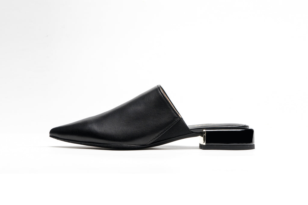 Leather Mules - Black AM20701 - BKL