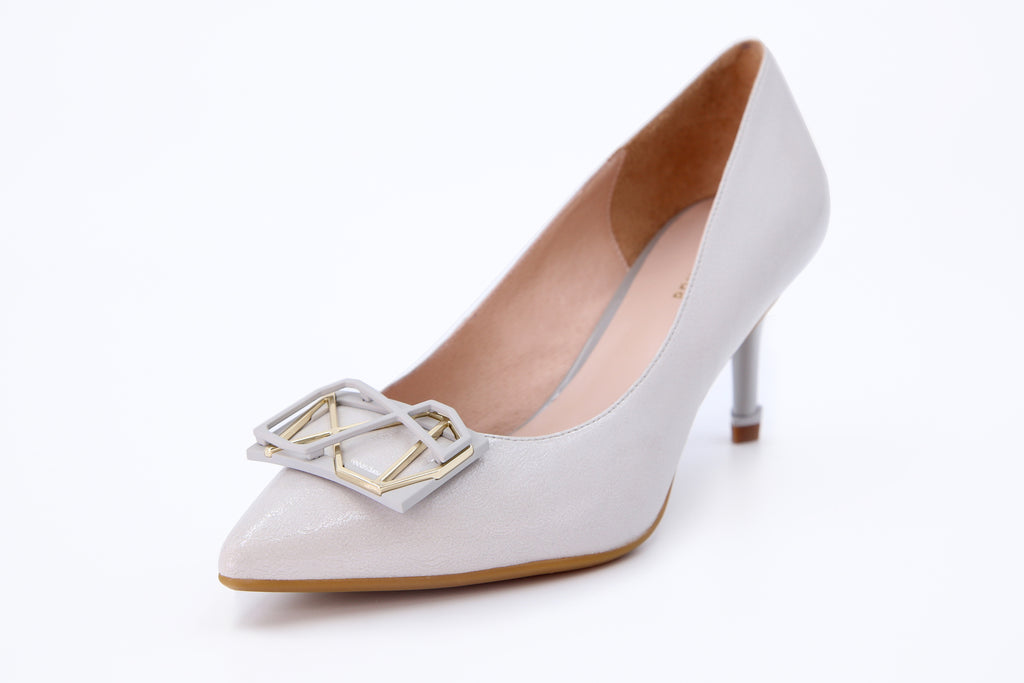 Millennium Wheel Leather Pumps - Grey AT70106