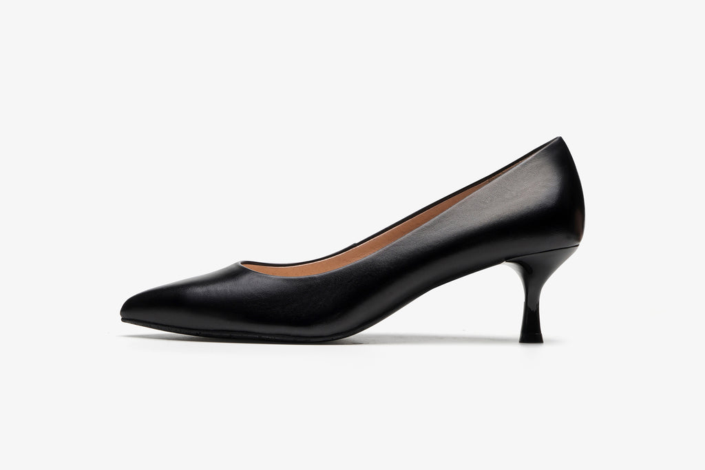 Classic leather heels - Black AM53201 -BKK