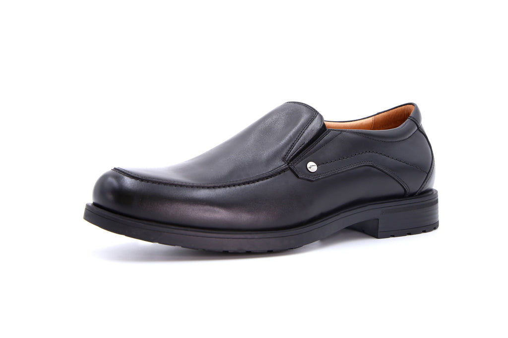 Men's Leather Shoes - Black ATM55707