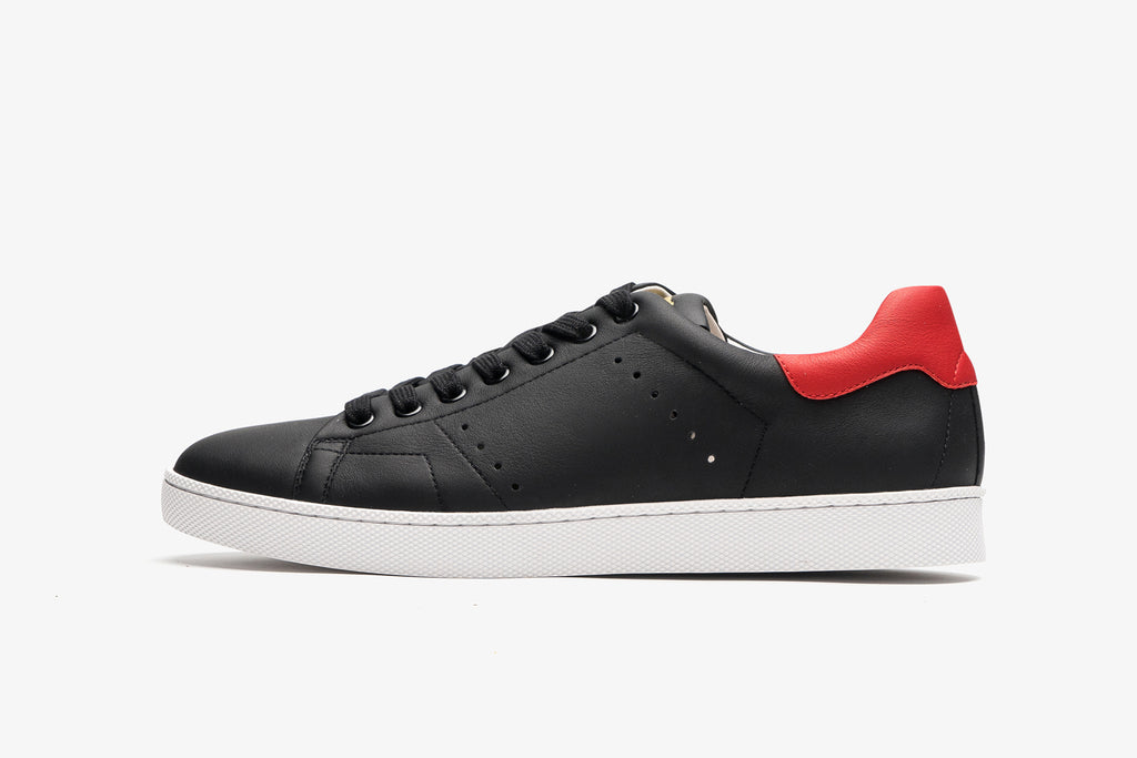 Men's Leather Sneakers - Black