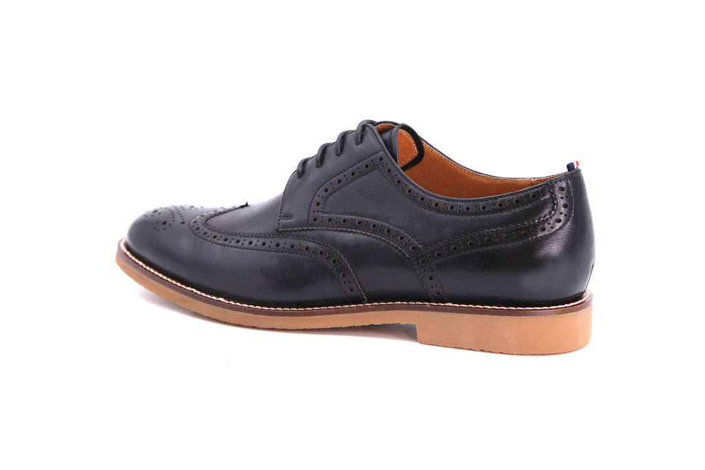 Men's Casual Leather Shoes - Black ATM85708