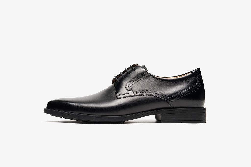 Men's Leather Lace-up Shoes - Black