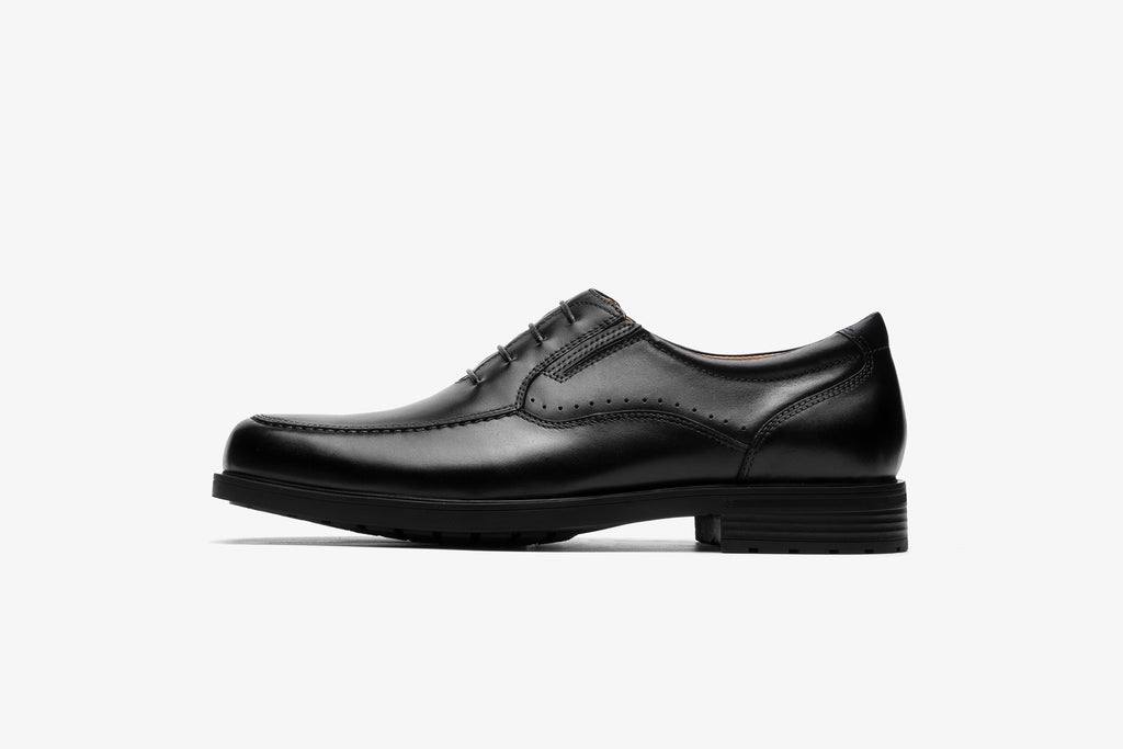 Mens Lace-up Shoes in Leather - Black
