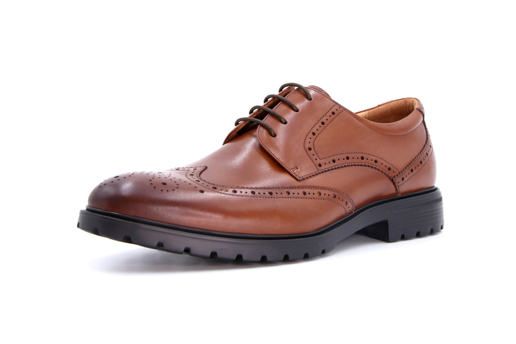 Men's Leather Derby Shoes - Brown ATM56401