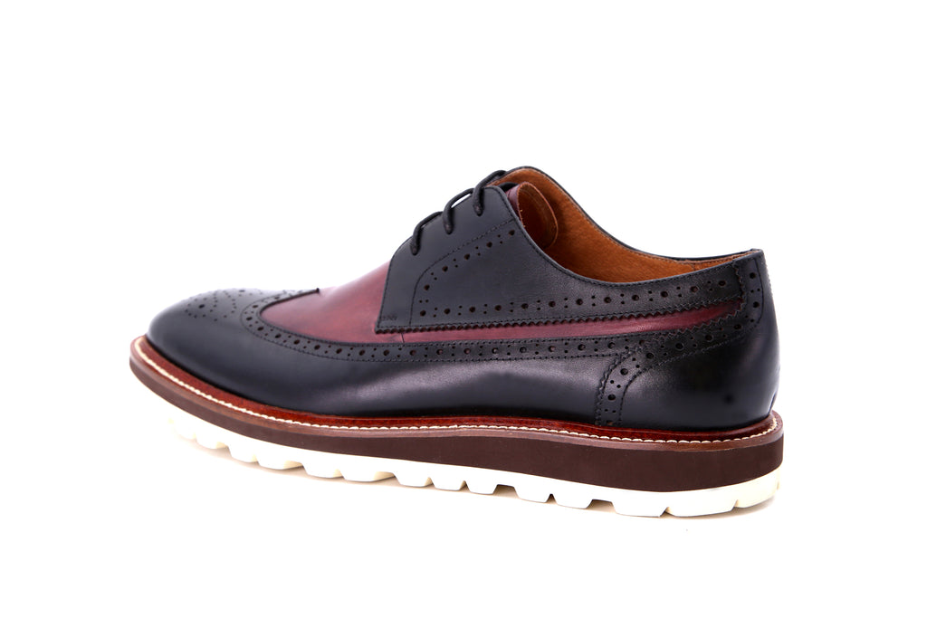 Leather Sporty Shoes - Black ATM86401