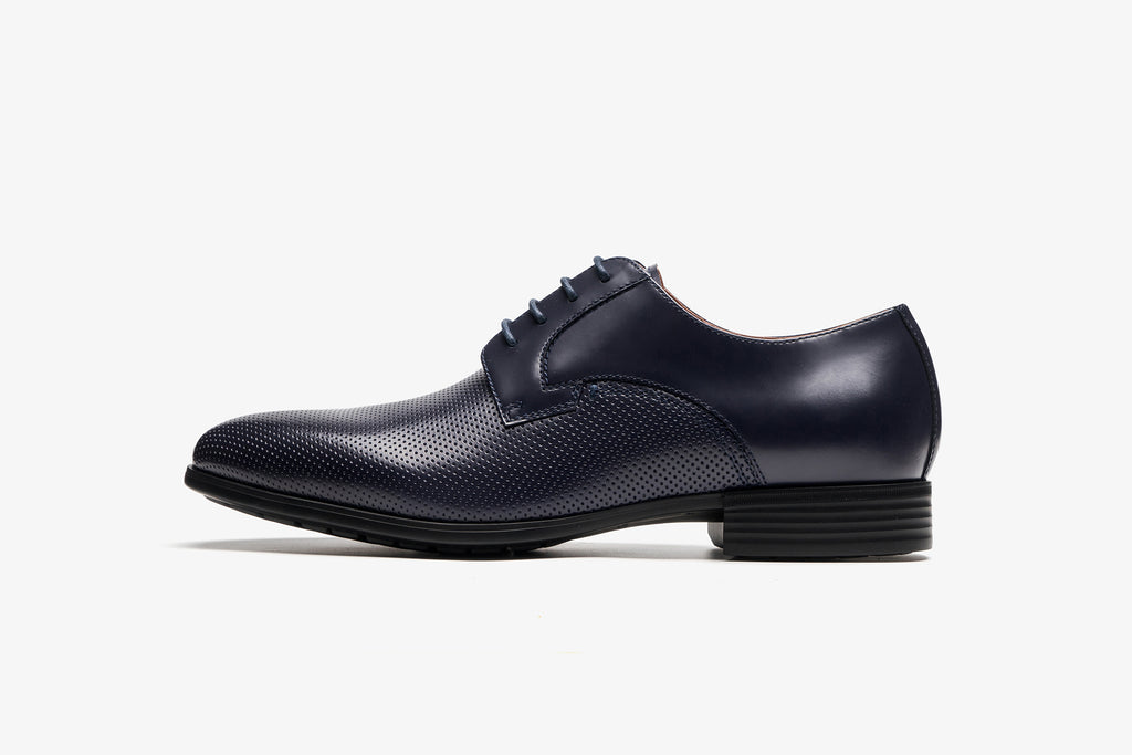 Men's Leather Shoes - Navy