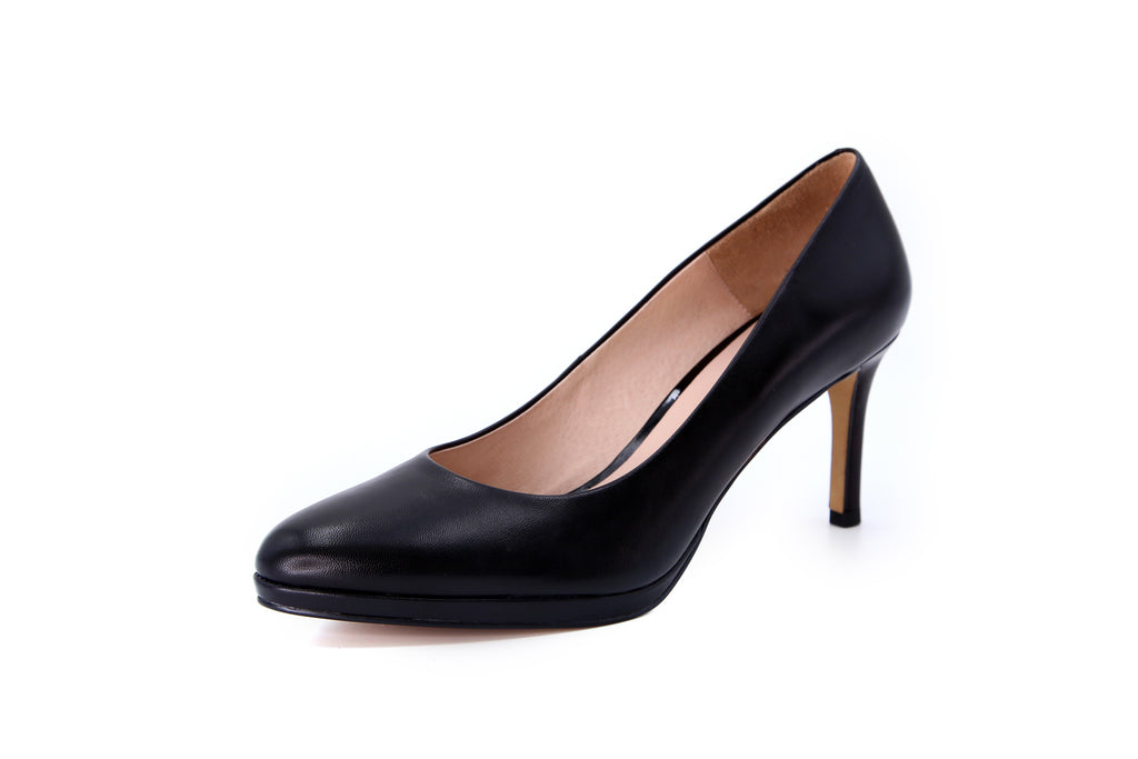 Leather Platform Pumps - Black AT76701