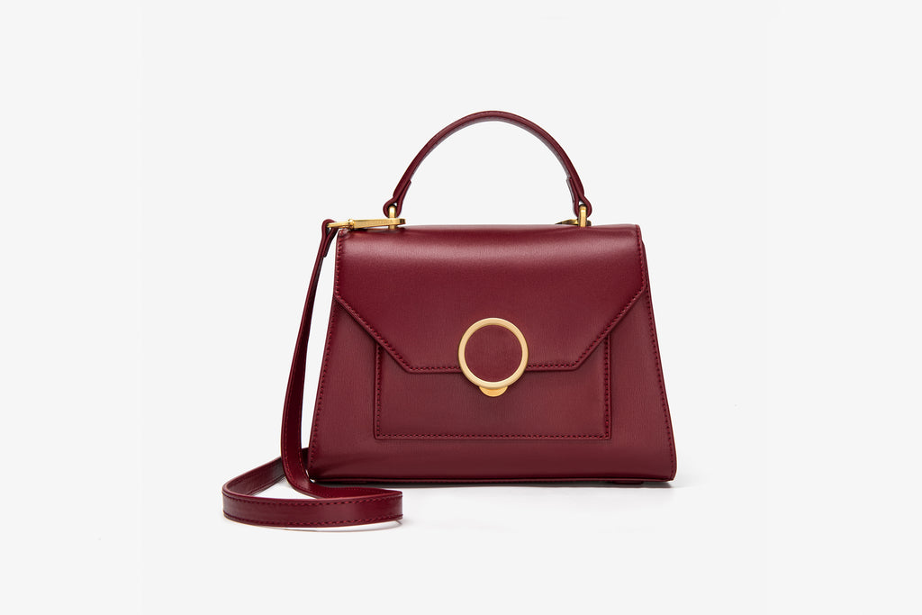 Leather City Bag - Bordo ATH7628