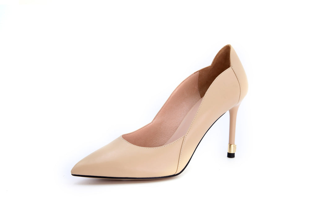 Leather Pumps - Beige AT94436