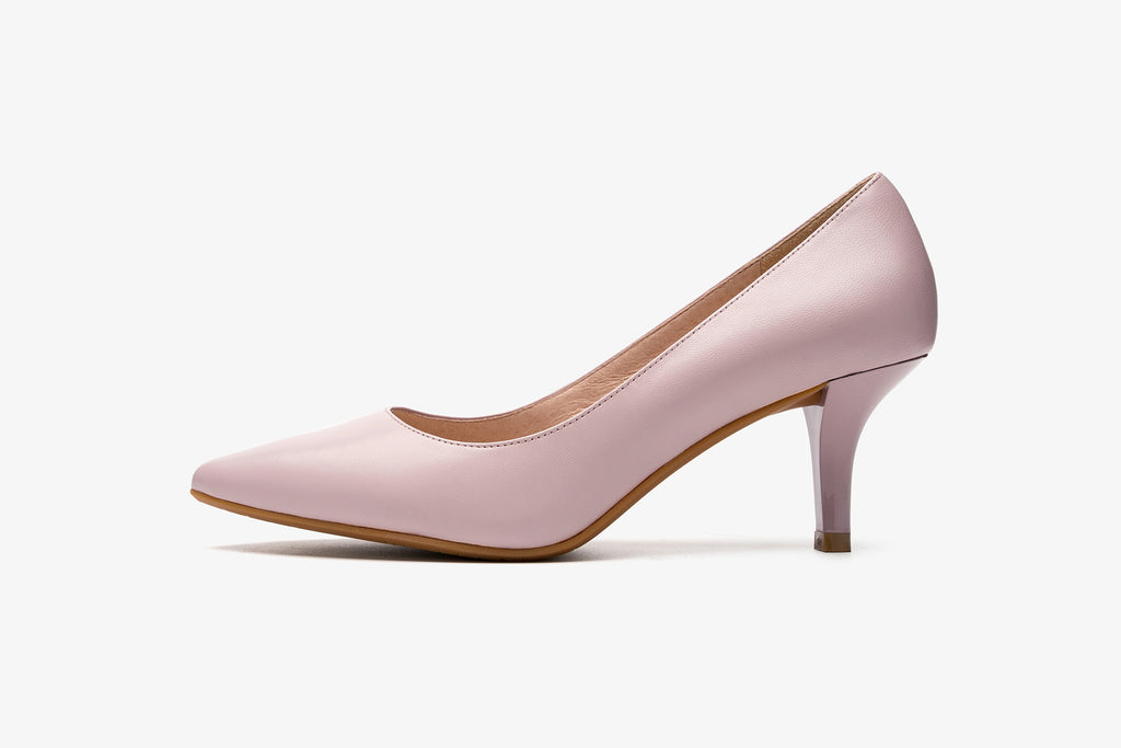 Classic Leather Pumps - Light Purple