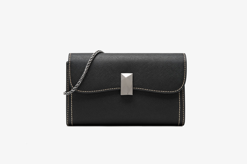 Leather Crossbody Bag - Black ATH7627