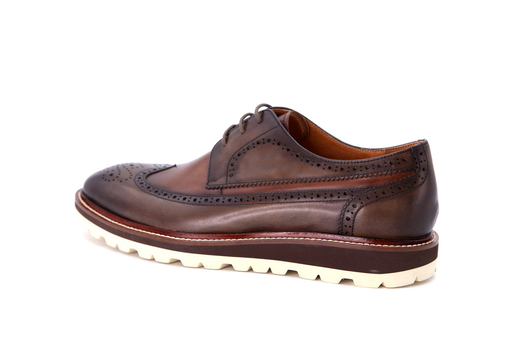 Men's Leather Sporty Shoes - Brown ATM86401
