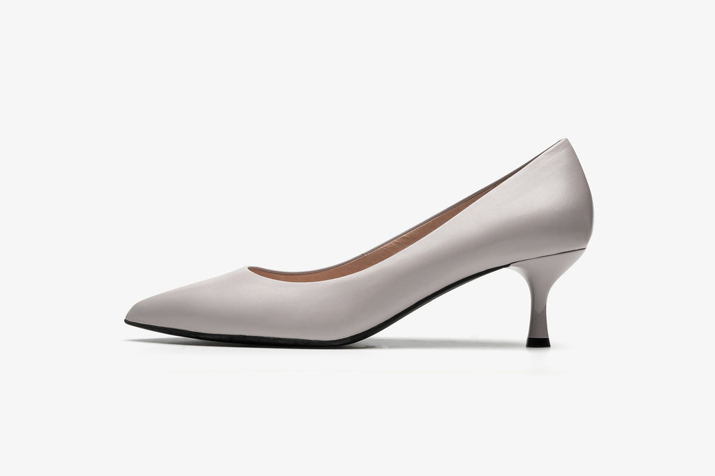 Classic leather heels - Grey AM53201 -GYK