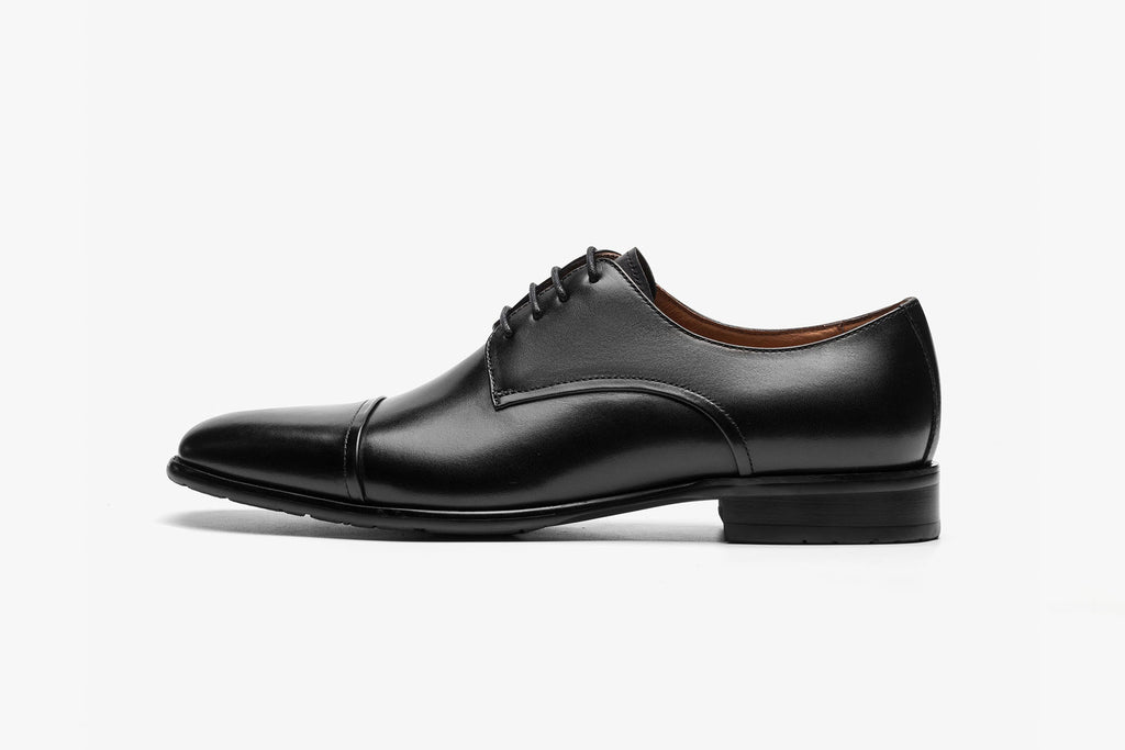 Men's Leather Shoes - Black ATM09507
