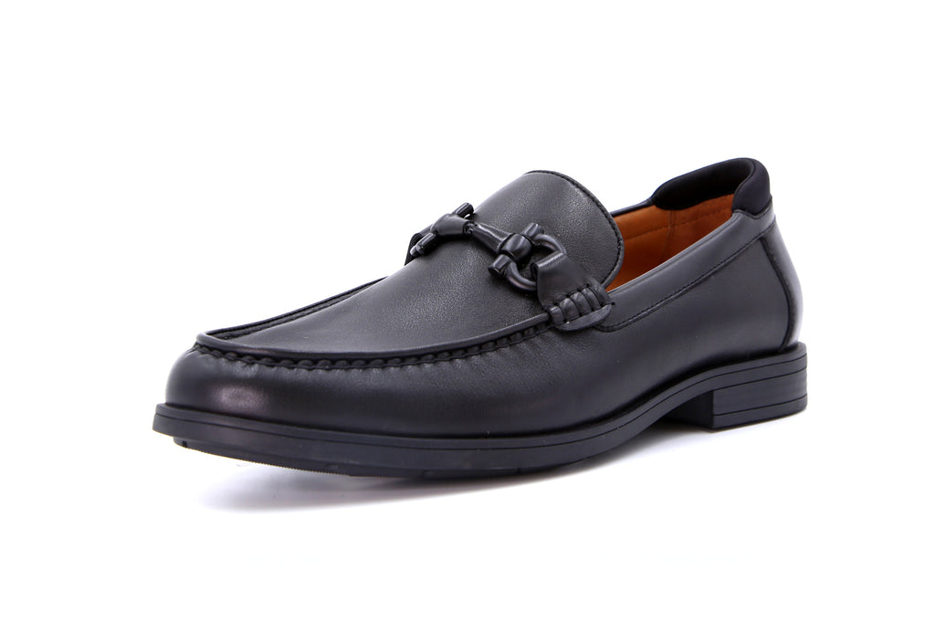 Men's Leather Loafers - Black ATM51503