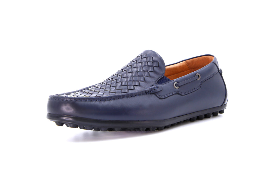 Men's Embossed Driving Shoes - Navy ATM42128