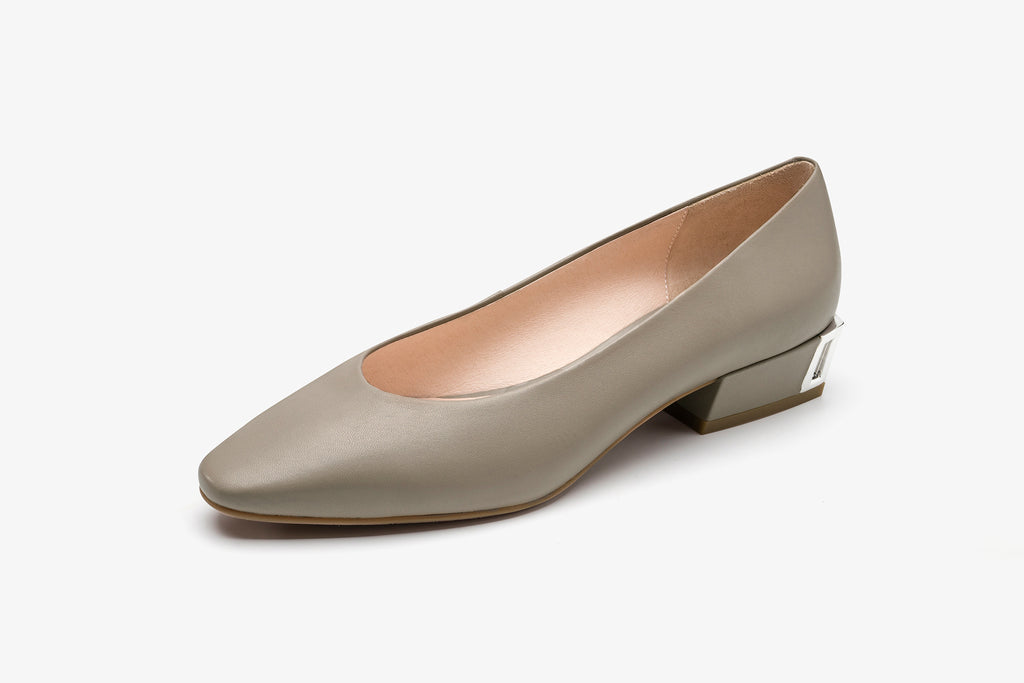 Leather Flat Shoes - Tapue AT37504 TPK