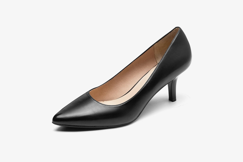 Classic Leather Pumps - Black