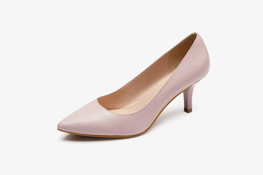 Classic Leather Pumps - Light Purple AM65001 - LPK