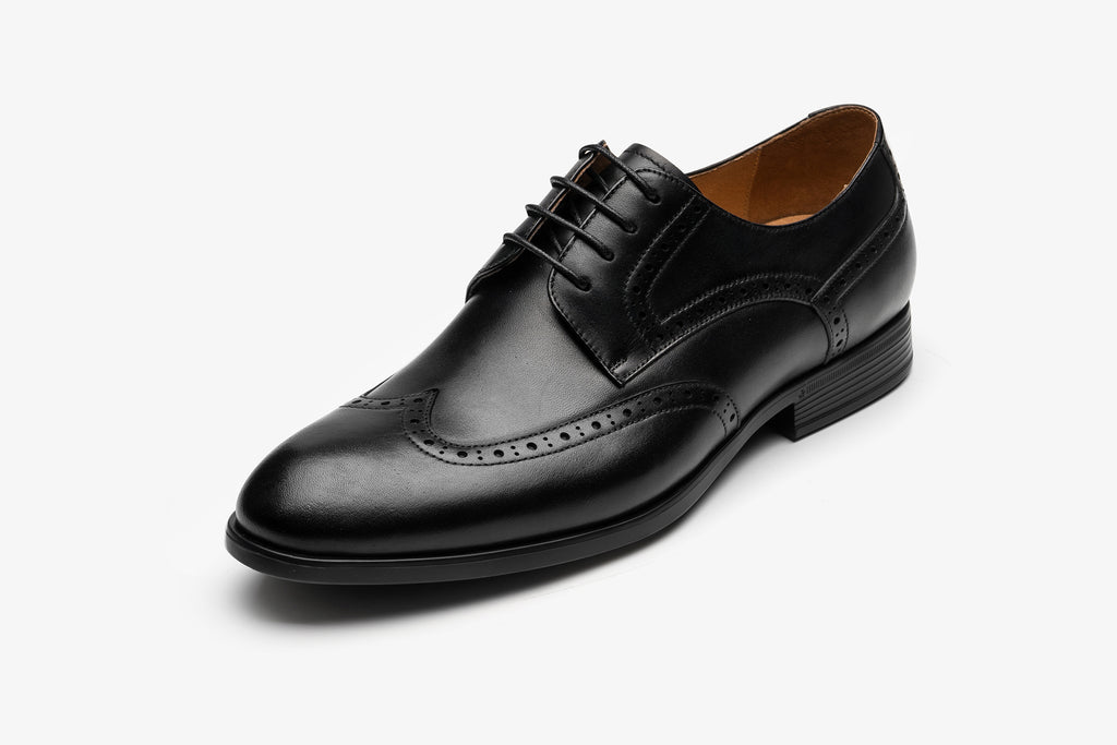 Men's Leather Derby Shoes - Black