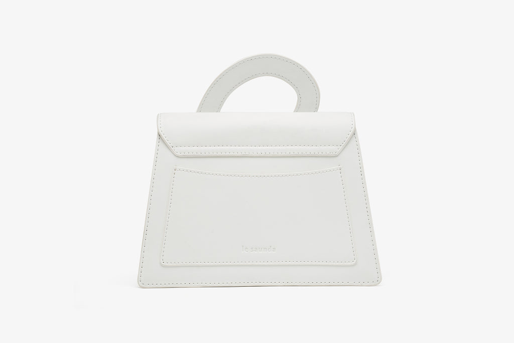 City Bag in Leather - White