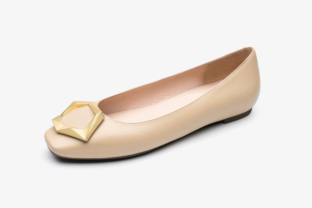 Great City Square Toe Flat Shoes