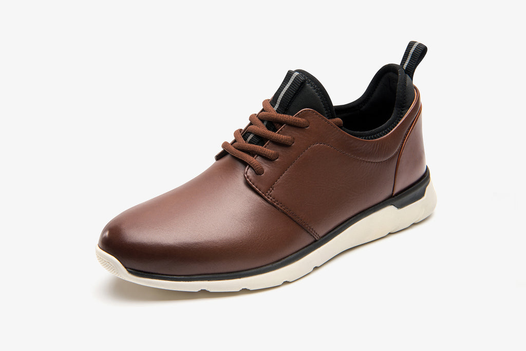 Men's Leather Sneakers - Brown ATM76301