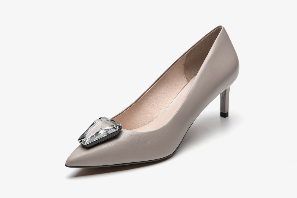 Pumps with Triangle Detail - Grey AT54107 GYK