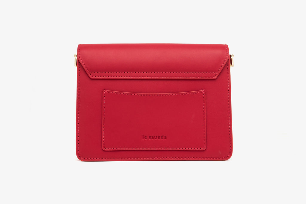 Leather Mini Crossbody Bag - Red AMH7615 - RDL