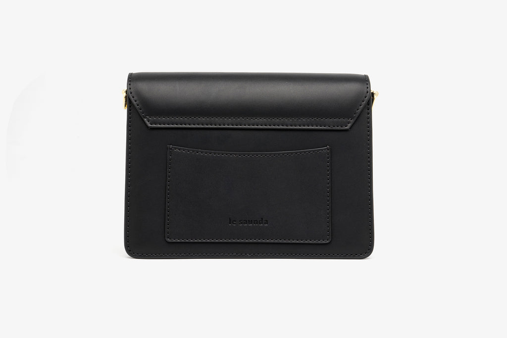 Leather Mini Crossbody Bag - Black AMH7615 - BKL