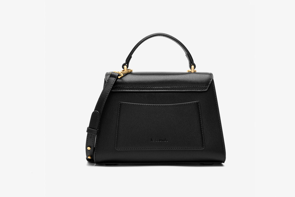 Leather City Bag - Black ATH7628