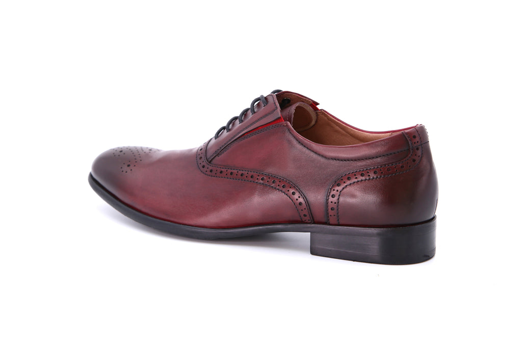 Men's Leather Derby Shoes - Bordo ATM08516