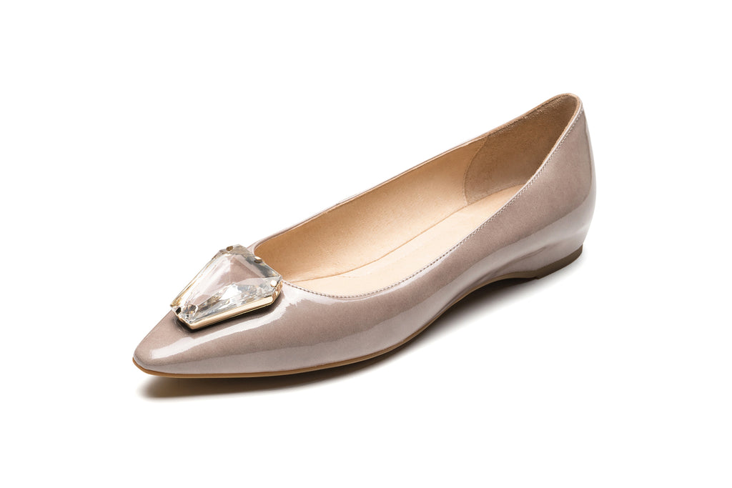 Ballet Flats with Triangle Detail - Tapue