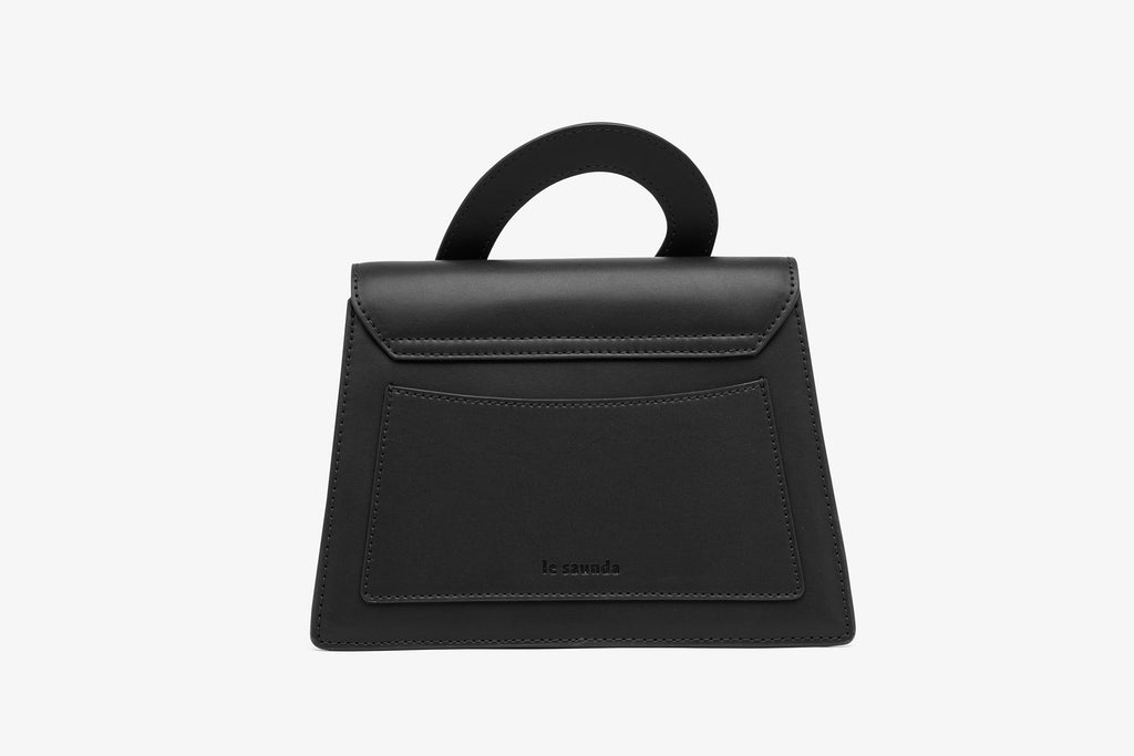 City Bag in Leather - Black