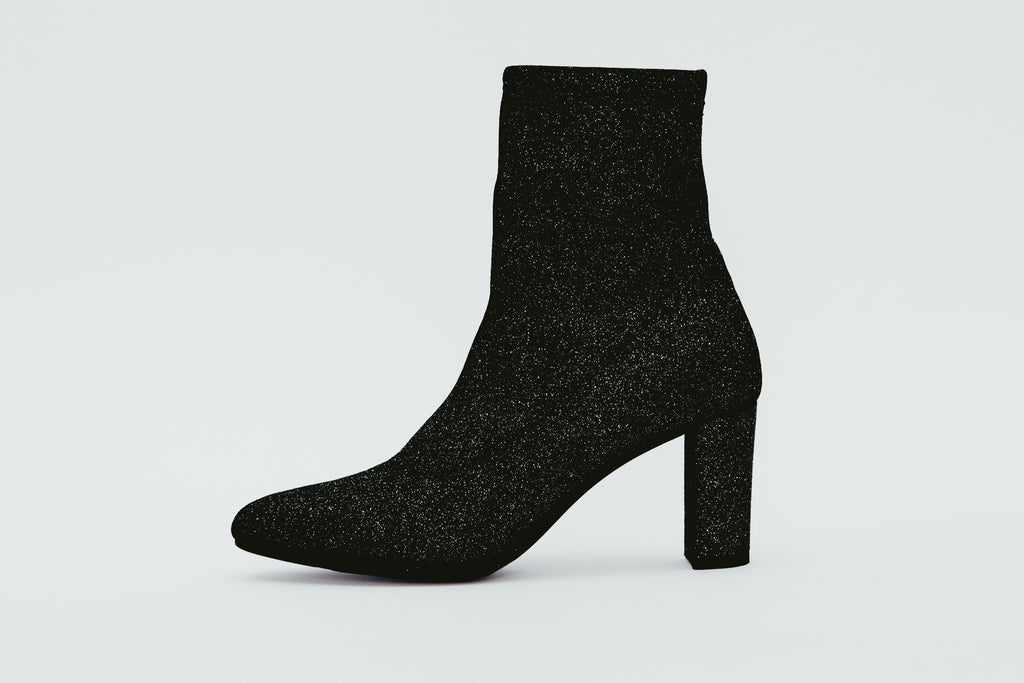 d5258a7889e5 Pointed-Toe High Heel Sock Boots - Black