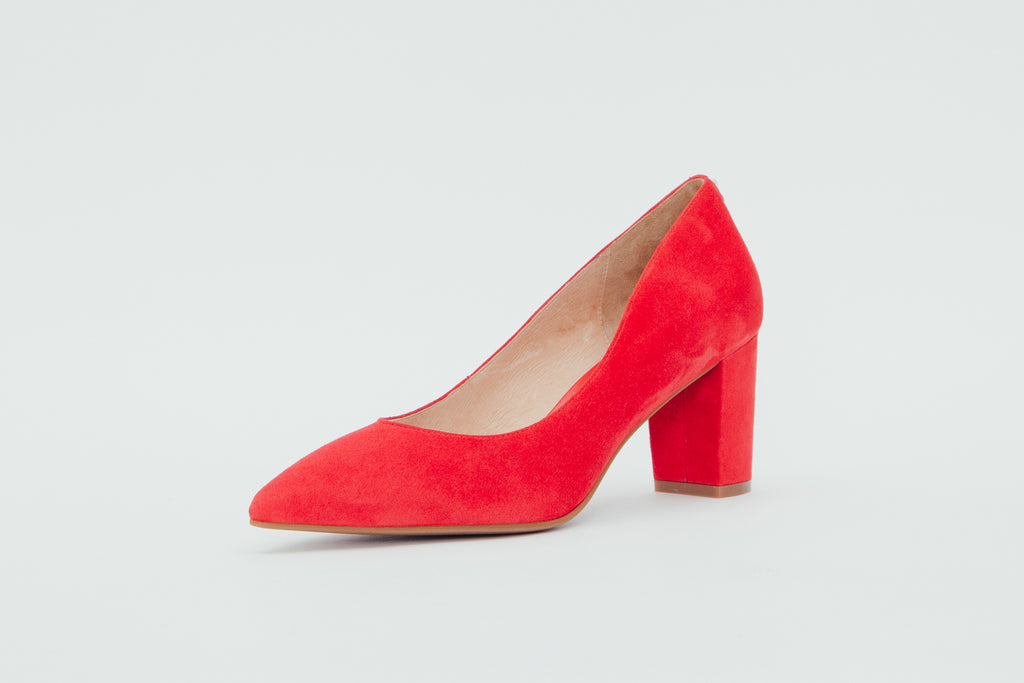 Block Heel Pumps - Red 9T70101 - RDS