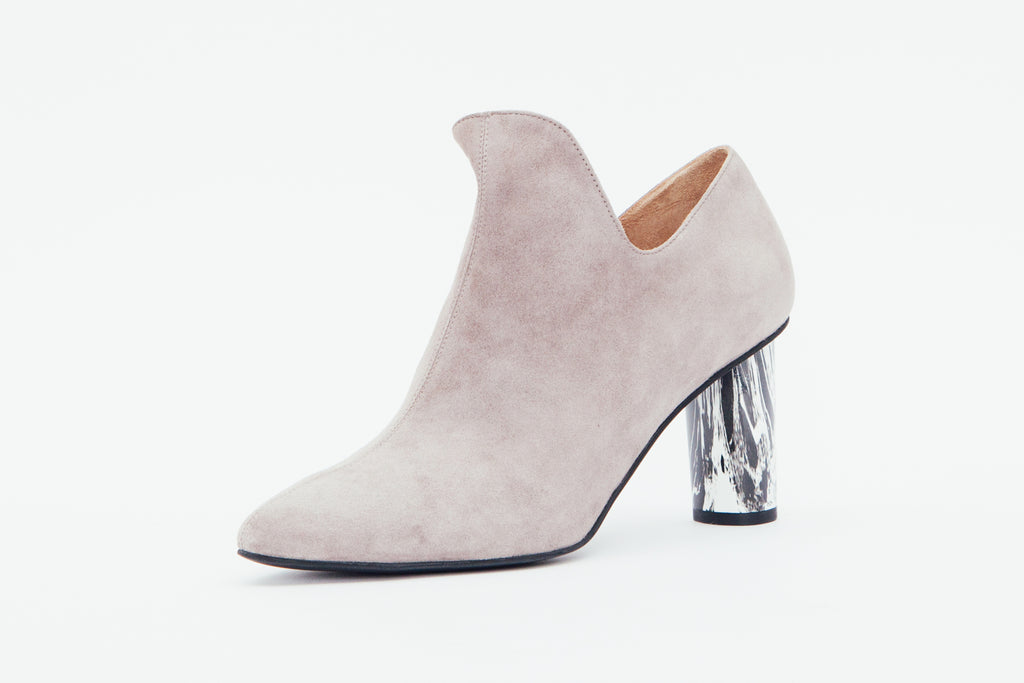 Studded Ankle Boots - Grey