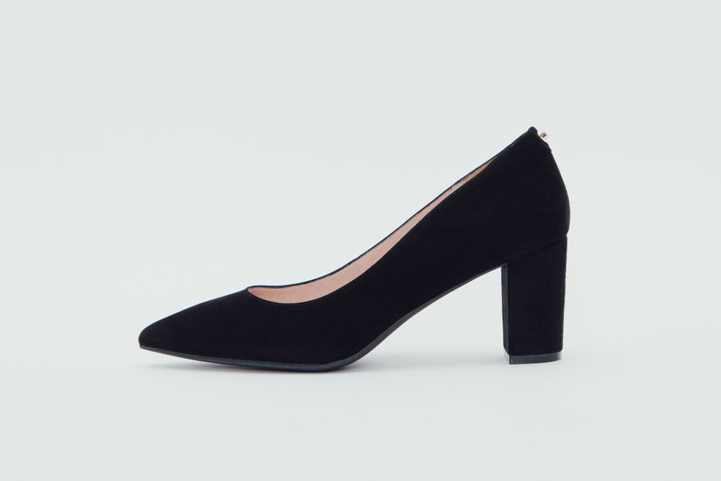 Block Heel Pumps - Black 9T70101 - BKS