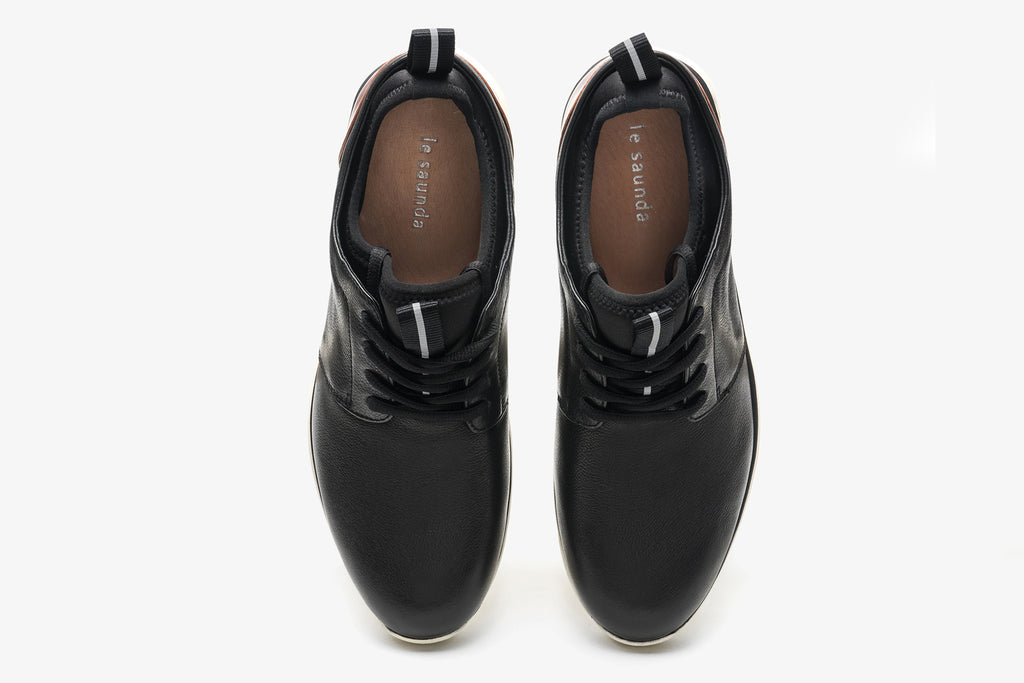 Men's Leather Sneakers - Black ATM76301