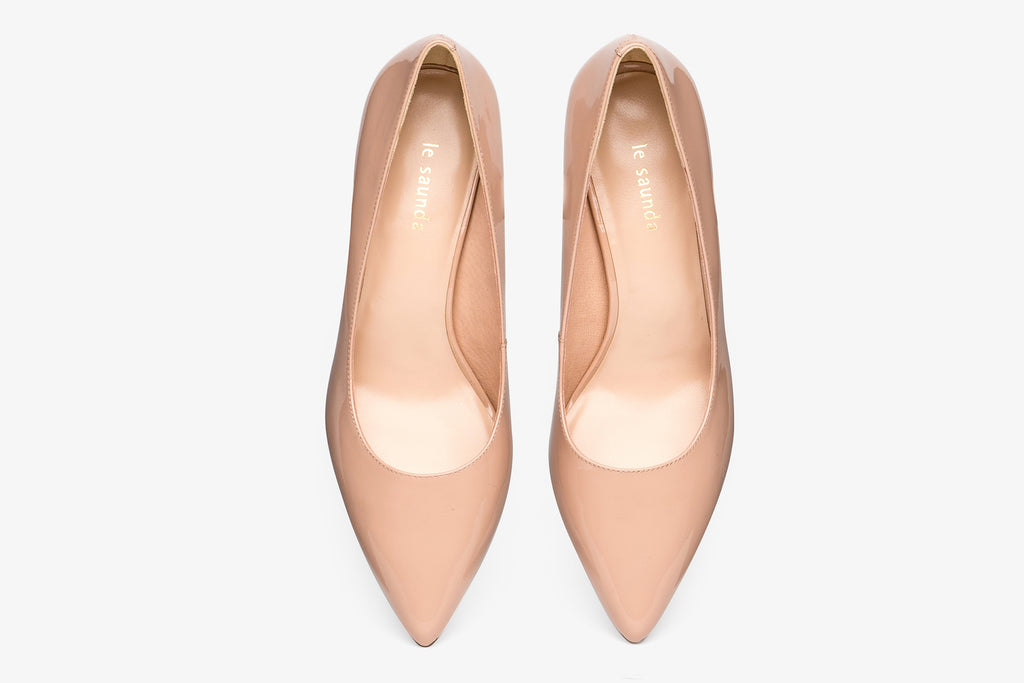 Classic Leather Pumps - Dark Pink AM65001 - DNP