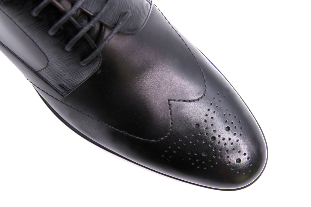 Men's Leather Lace-up Shoes - Black ATM31969
