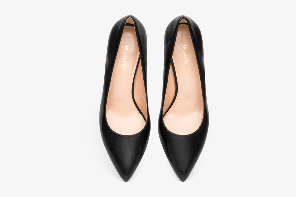 Classic Leather Pumps - Black AM65001 - BKK