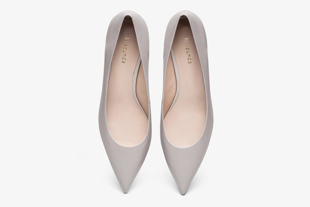 Classic leather heels - Grey