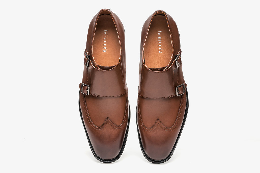 Men's Double Monk Strap Shoes - T-Moro ATM48207