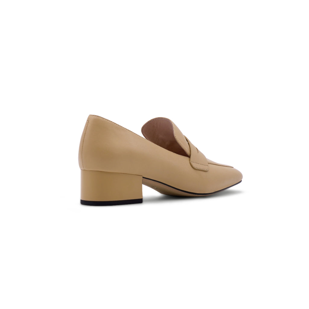 Heeled Loafers - Beige 1T43002BEK
