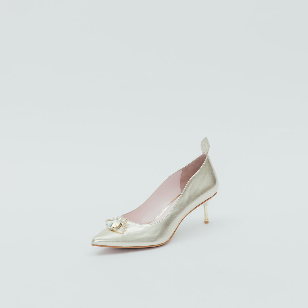 LR Classic Pumps with Crystal Detail - Gold 9T61014GDK
