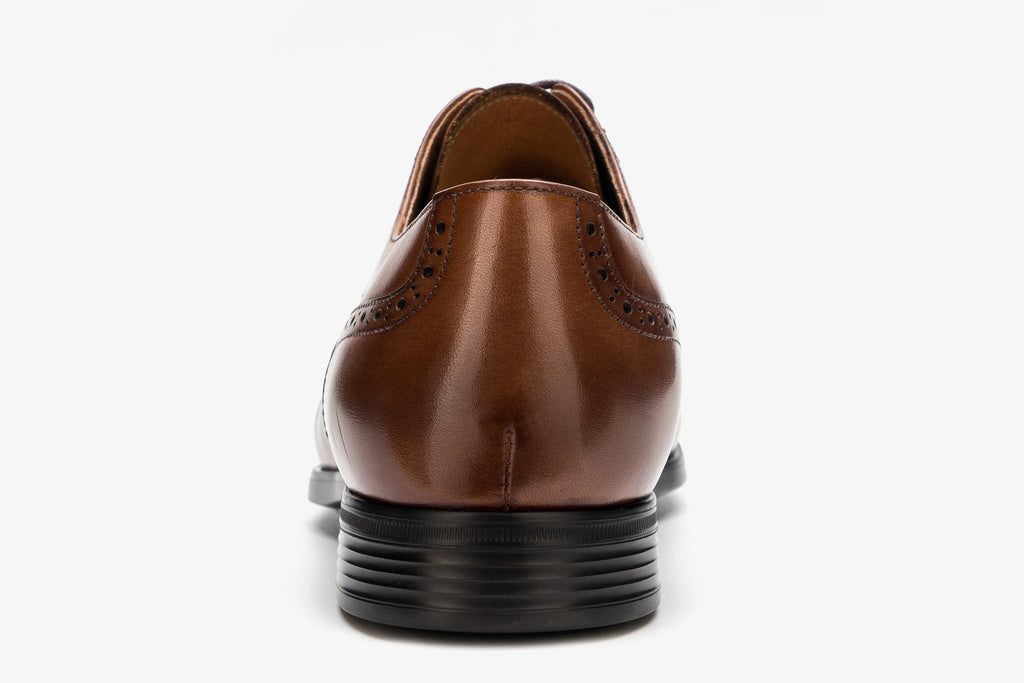 Men's Leather Derby Shoes - Brown