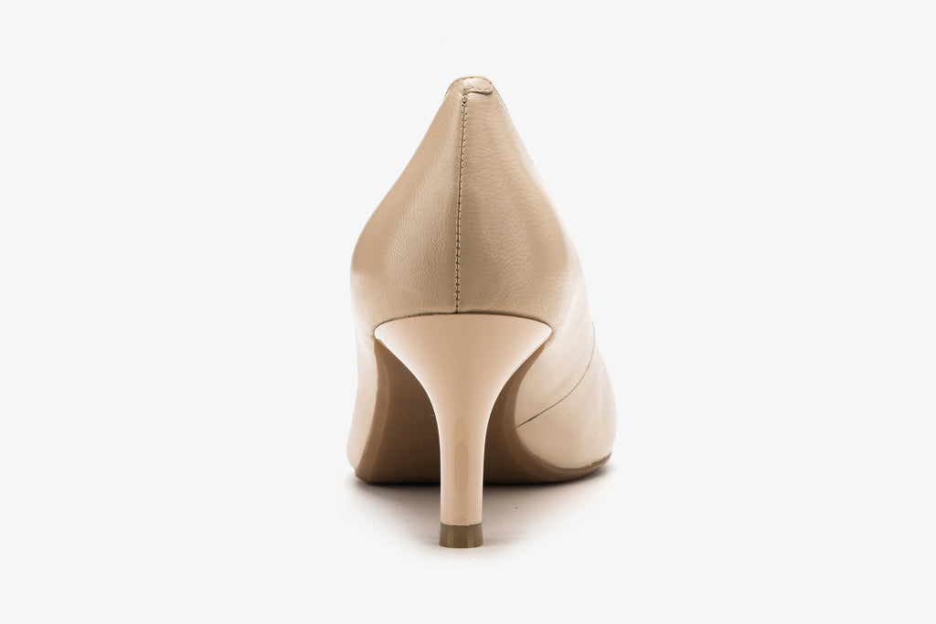 Classic Leather Pumps - Beige AM65001 - BEK