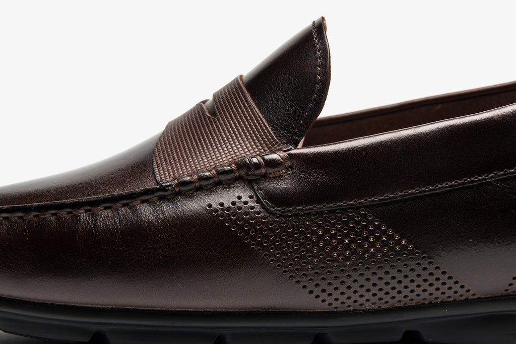 Men's Leather Driving Shoes - T-Moro